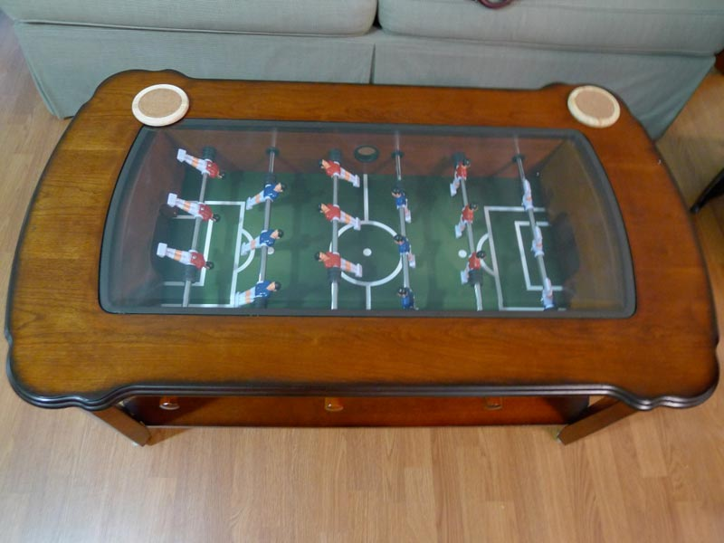 coffee table with foosball at costco