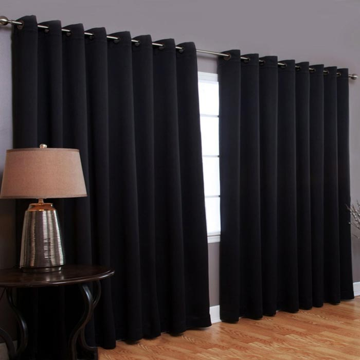 curtain and drapes walmart black
