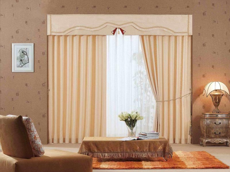 curtains with valance for living room 2014