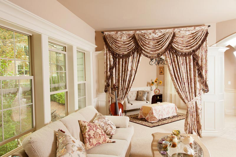 curtains with valance for living room 983