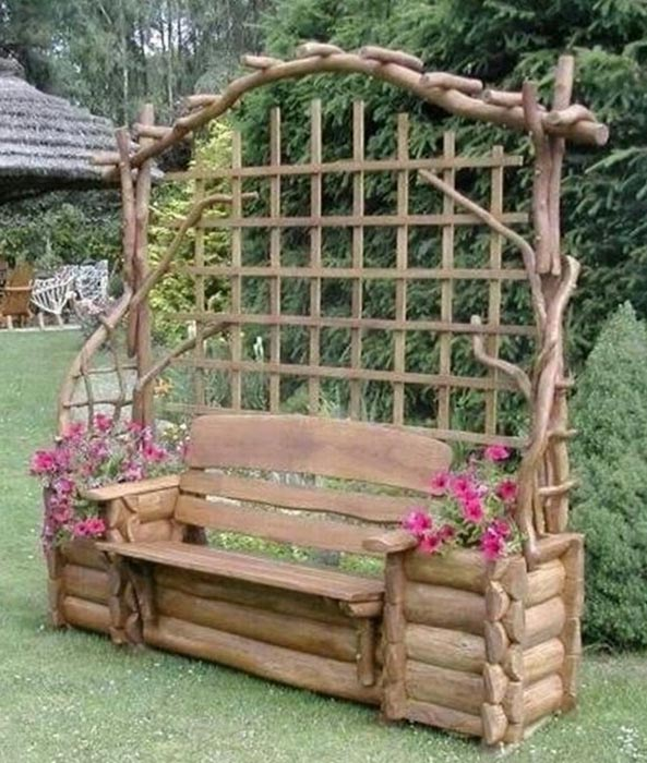 diy garden bench designs