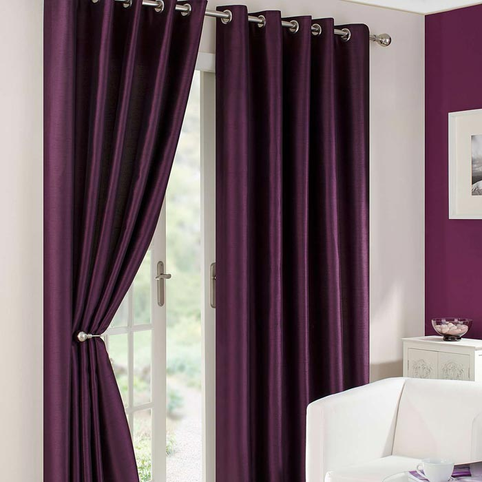 dunelm mill aubergine curtains