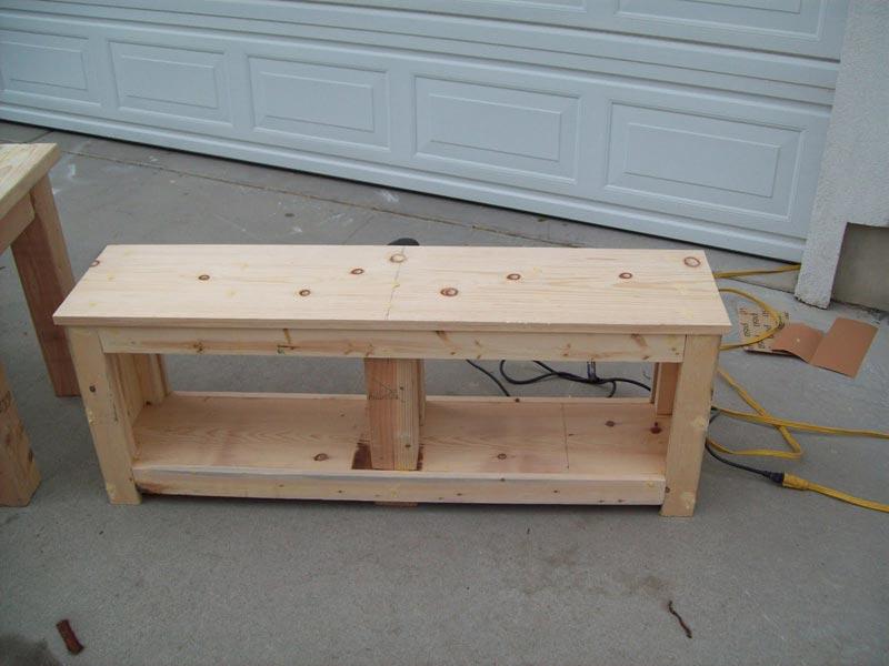 entryway storage bench diy
