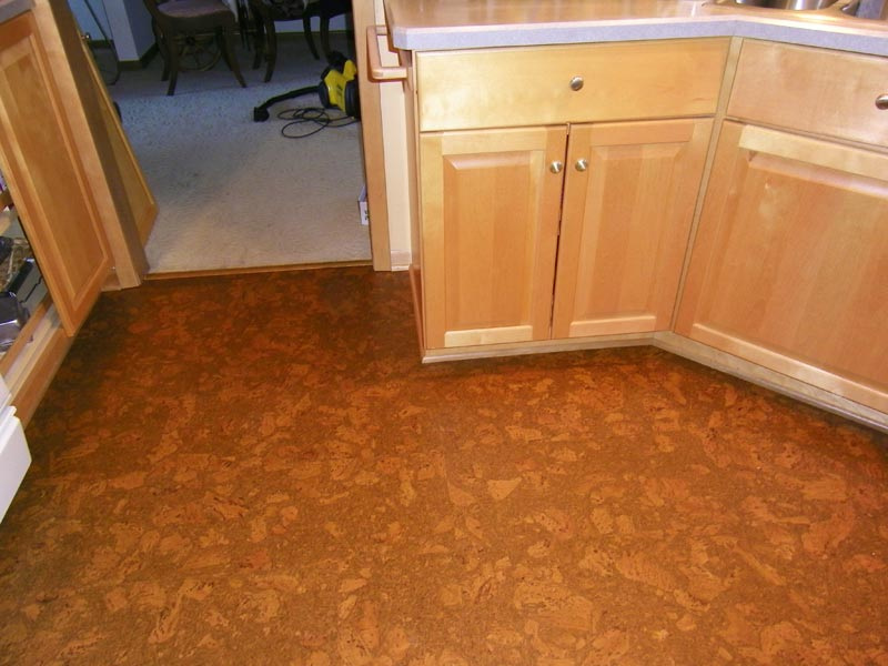 floating cork flooring kitchen