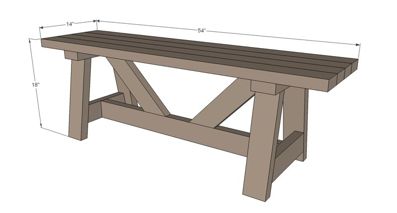 free garden bench plans pdf
