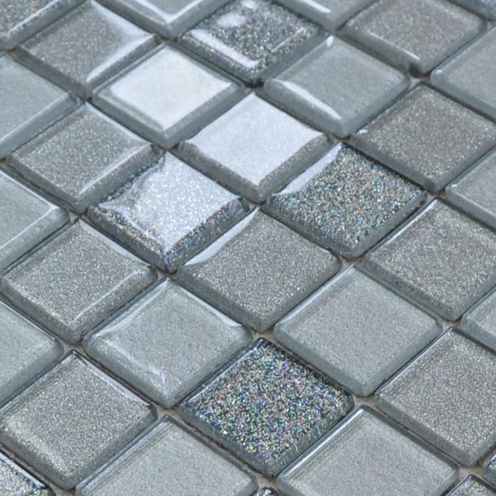 grey mosaic floor tiles