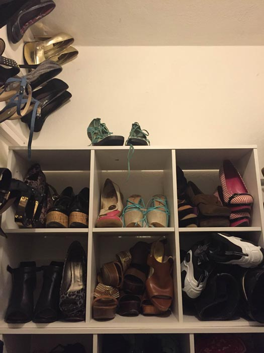 mould shoes wardrobe