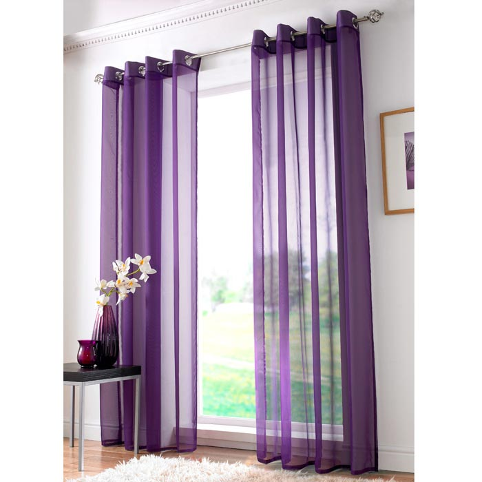purple voile curtains ikea