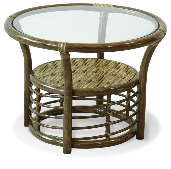 round rattan coffee table books
