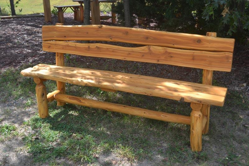 rustic garden bench designs