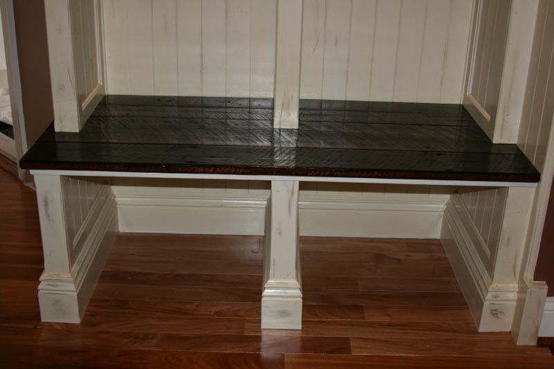 small bench for mudroom