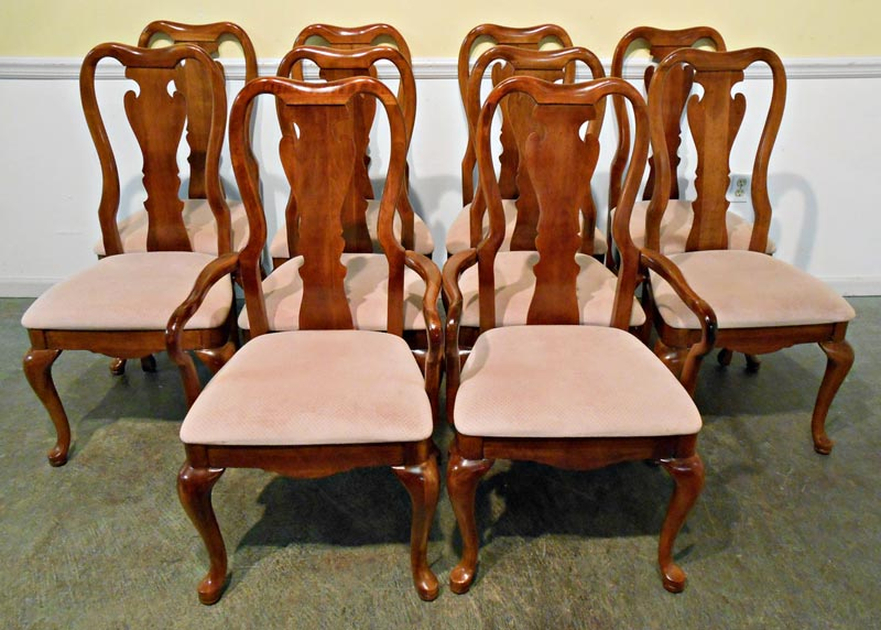 thomasville queen anne dining chairs