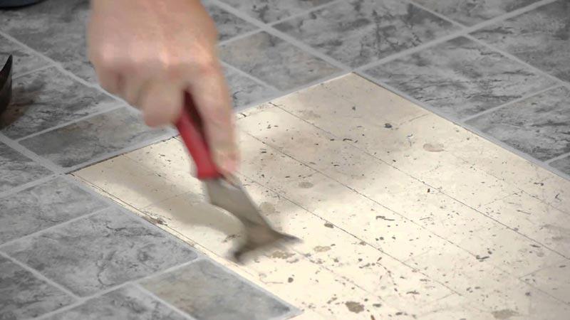 vinyl floor tile glue