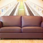 : 6 foot leather sofa