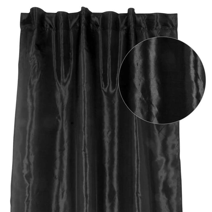 8ft black curtains