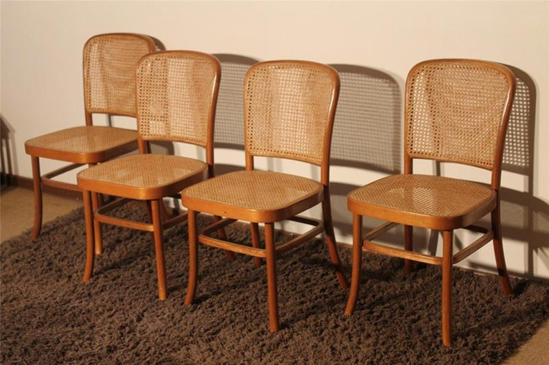 bentwood cane dining chairs