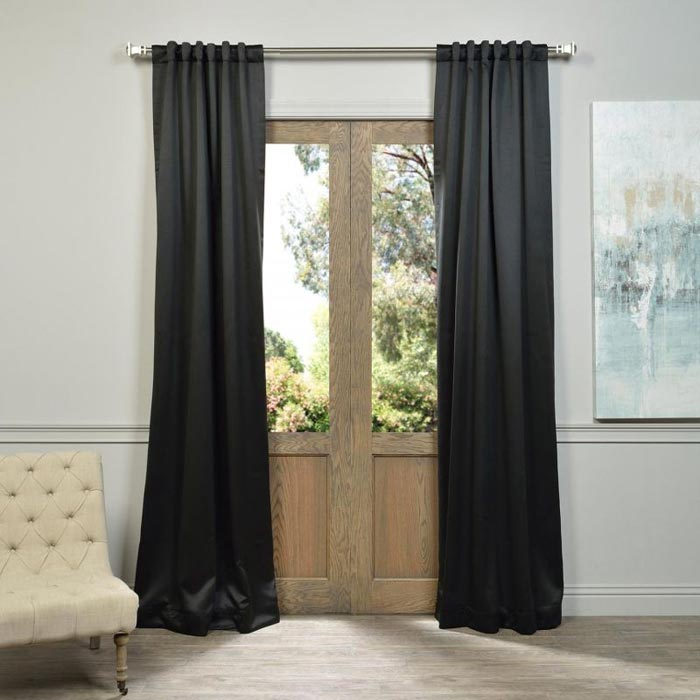 black curtains 120 inches long