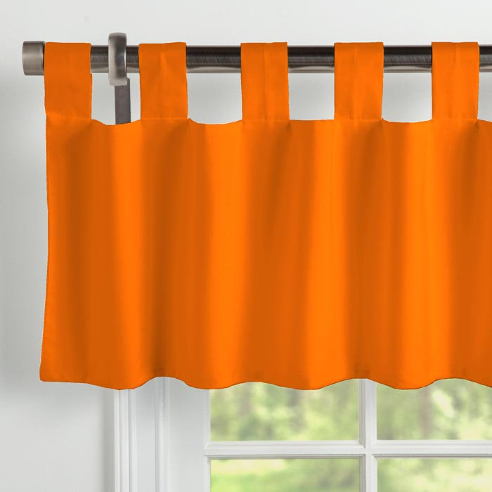 curtains valance patterns orange