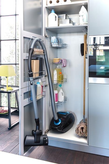 free standing broom closet cabinet