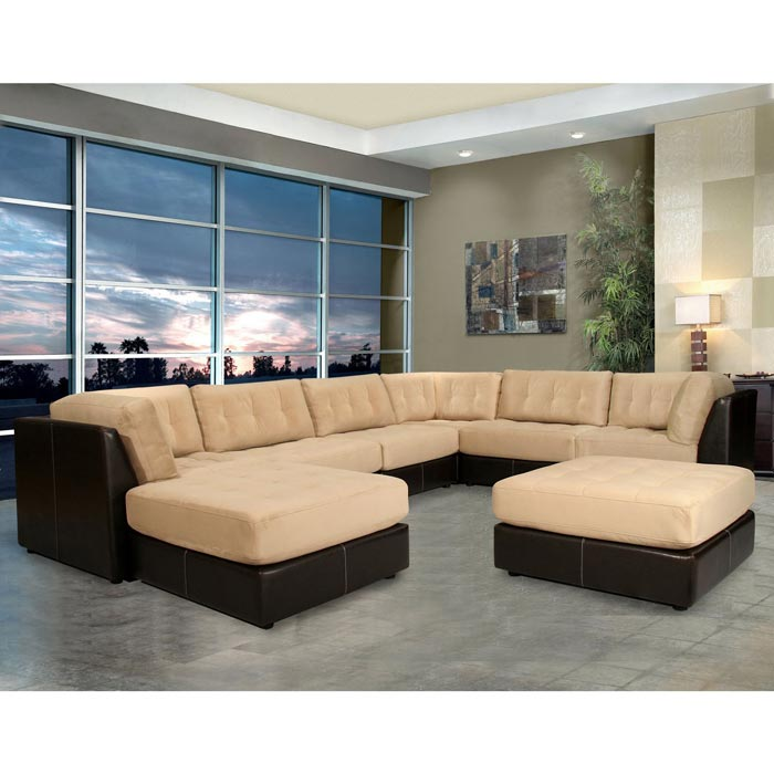 Guildcraft Quantum 7 Piece Modular Sectional Sofa