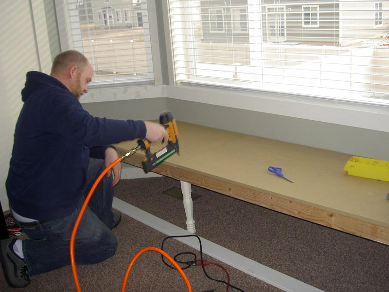 how to build a bay window bench seat with storage