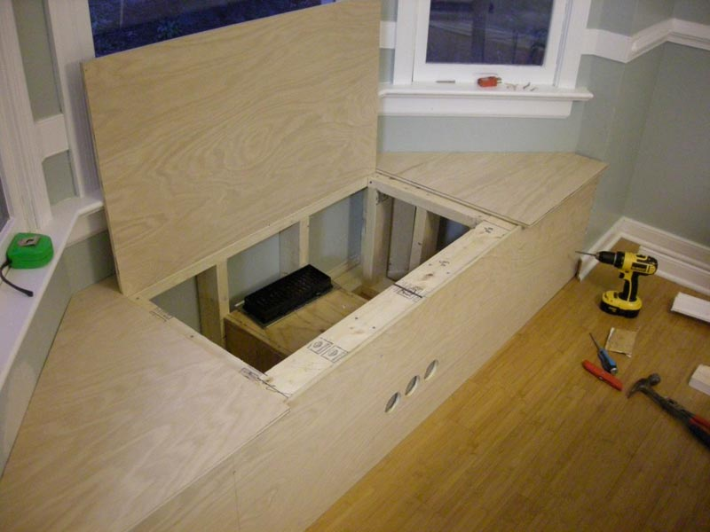 how to build a window bench seat with storage