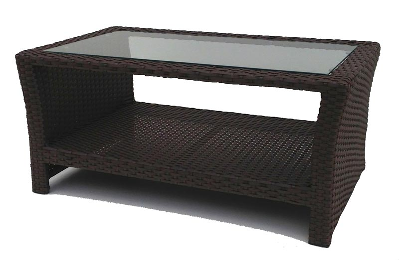 mainstays steel wicker coffee table honey brown