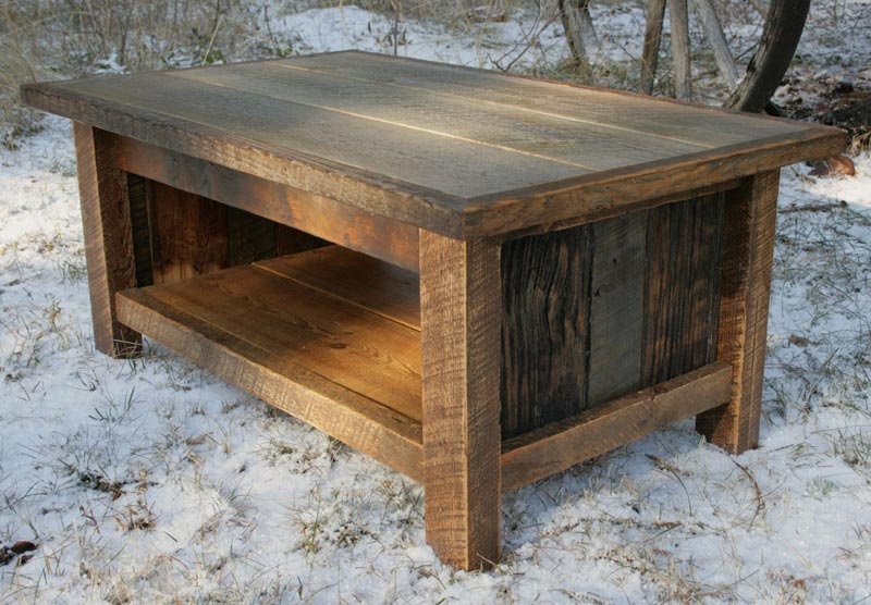 rustic oak trunk coffee table