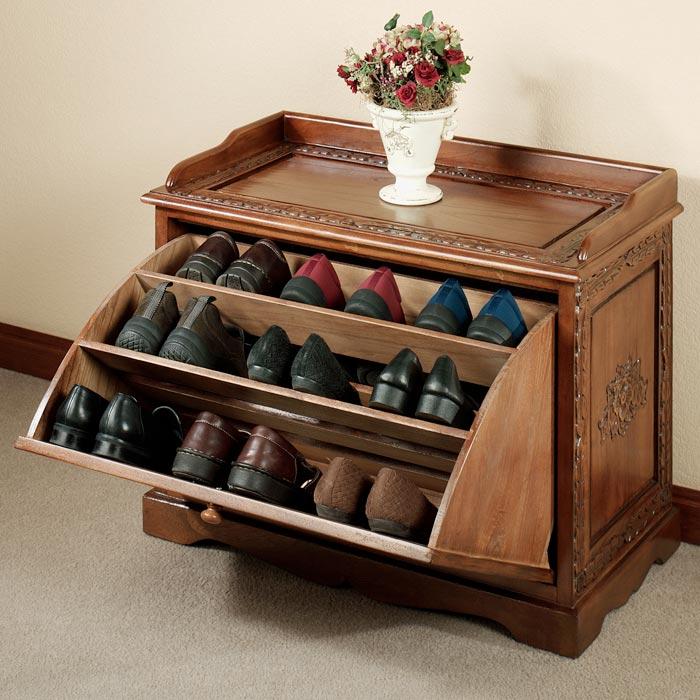 shoe rack bench design