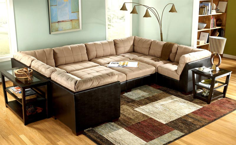 Abbyson Living Leather Sofa Images Sectional
