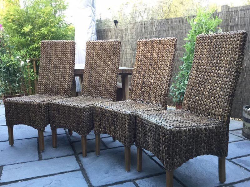 wicker dining chairs ebay