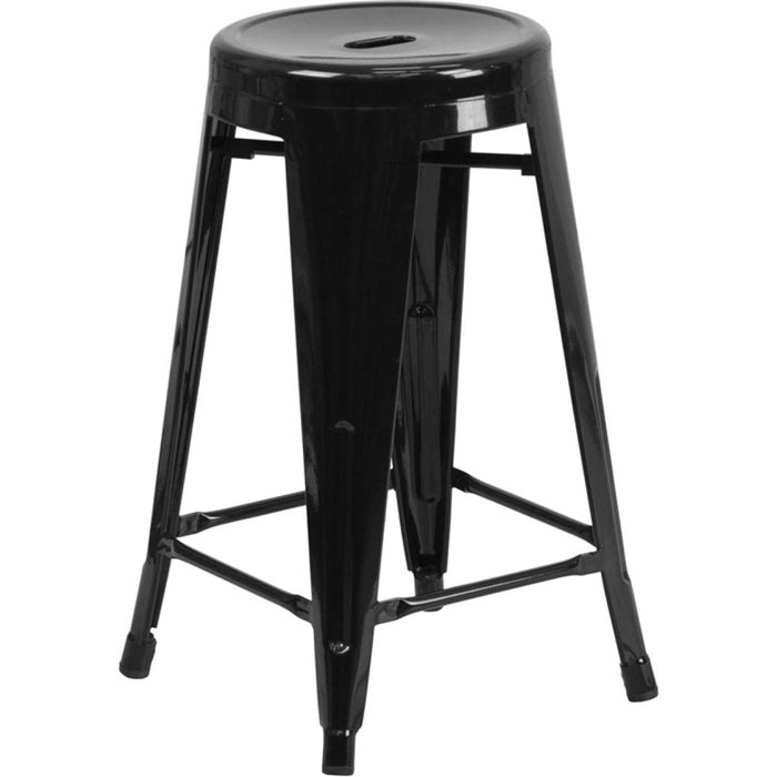 24 metal bar stools backless