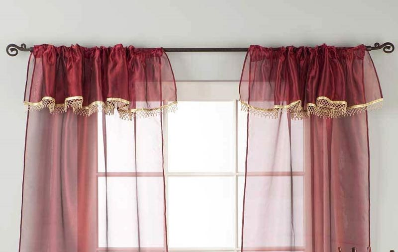 3 inch rod pocket sheer curtains