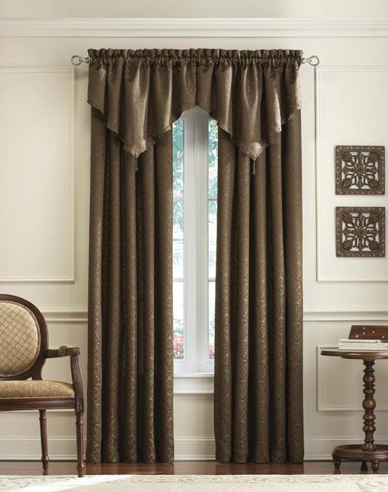 63 curtains with attached valance
