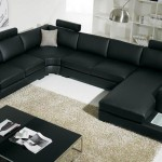 : 9 piece leather sectional sofa