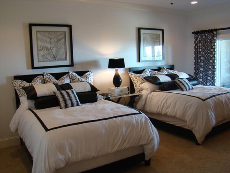 black and white guest bedroom ideas