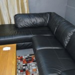 : black leather sofa bed argos
