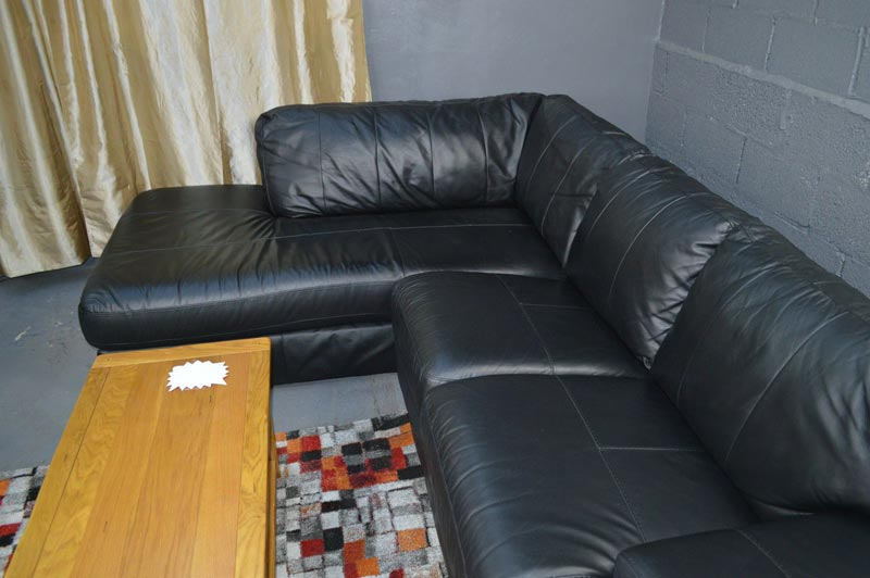 black leather sofa bed argos