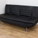 : black leather sofa bed cheap