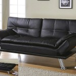 : black leather sofa bed costco