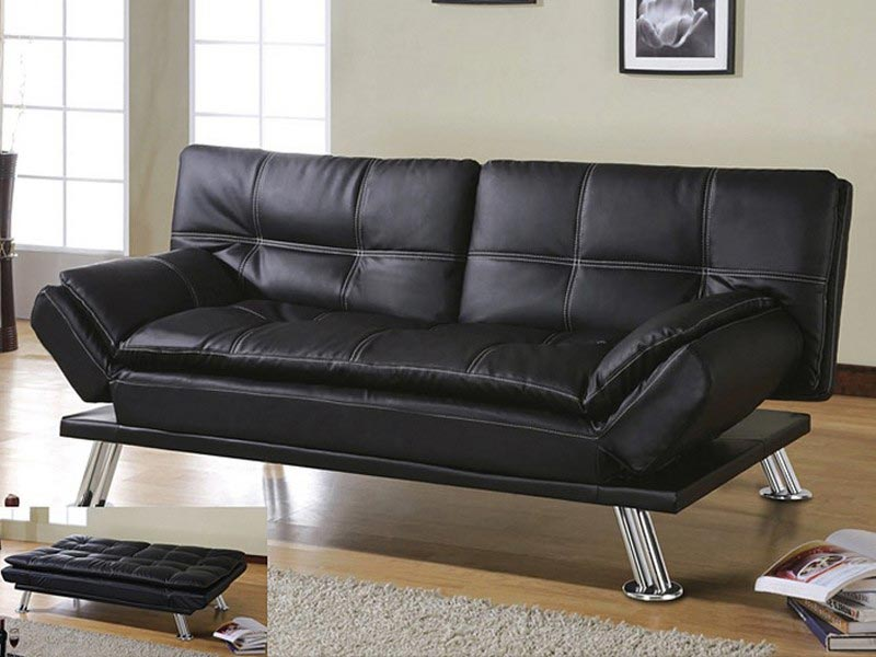 black leather sofa bed costco