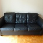 : black leather sofa bed ikea