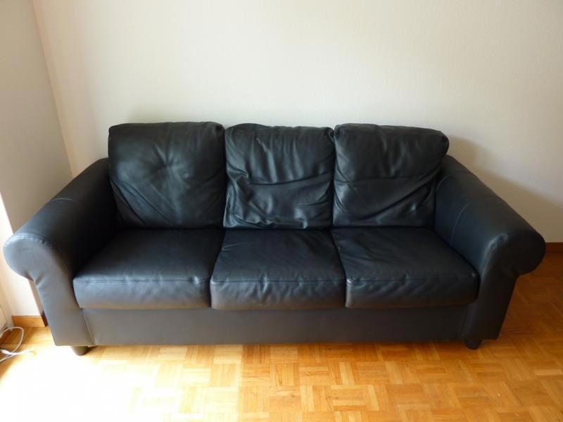 Black Leather Sofa Bed Ikea