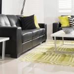 : black leather sofa bed perth