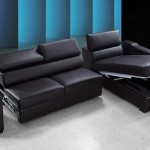 : black leather sofa bed sectional