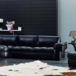 : black leather sofa bed sets