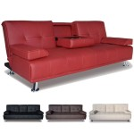 : black leather sofa bed sleeper with adjustable arms