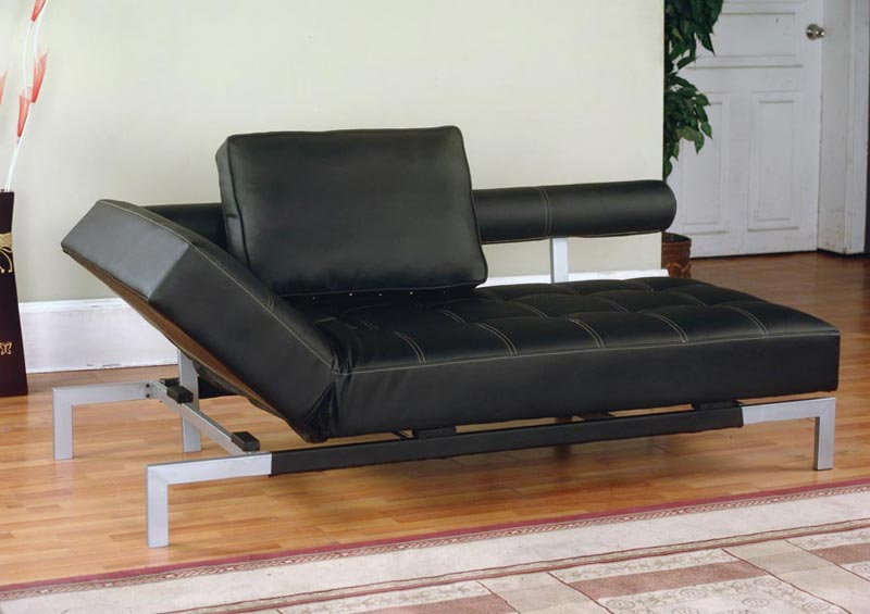 Black Leather Sofa Bed Sleeper