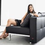 : black leather sofa bed sydney