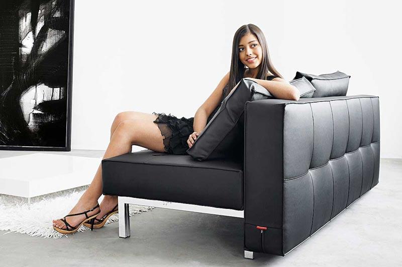 Black Leather Sofa Bed Sydney